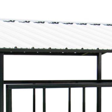 covered horse hay feeder roof 1