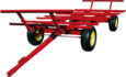 bale wagon with extended tongue