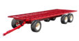 round bale trailer with two rear wheels