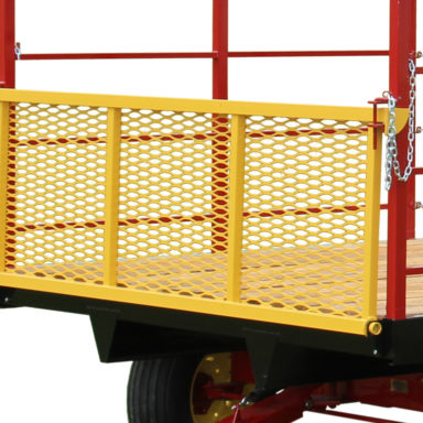 rear yellow gate on the hay wagon