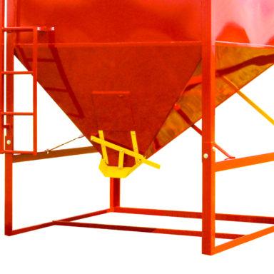 closer look at the portable grain bin legs