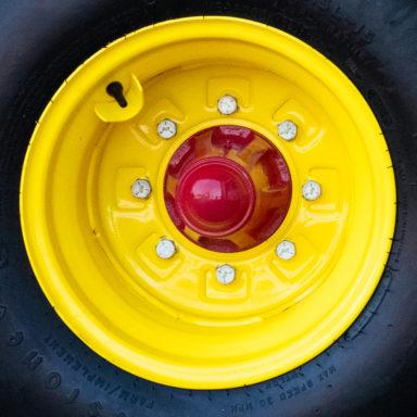 A silage feeder wagon wheel
