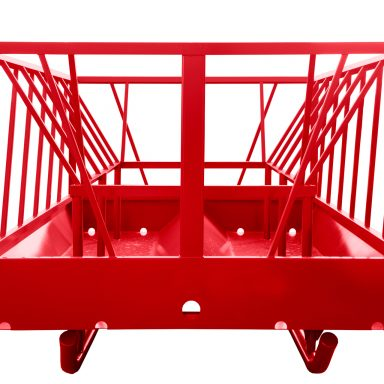 Big bale feeder for cattle with steel basket design for holding hay bales