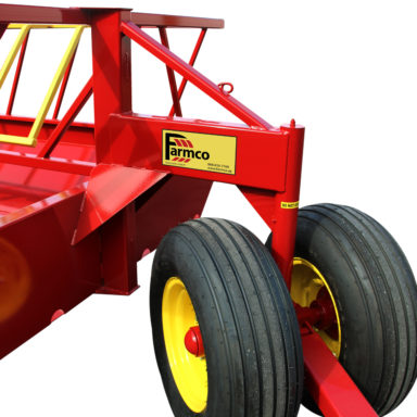 Hay feed wagon and tires