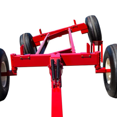 front view of articulating wagon gear on wheels