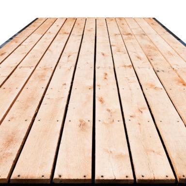 oak flooring on the hay wagon