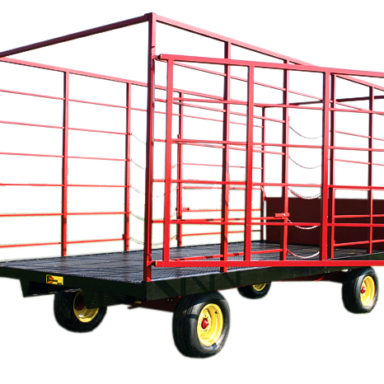hay wagon with rear gate open