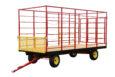 full hay wagon view