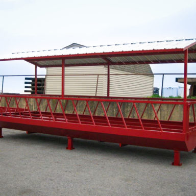 large custom hay feeders