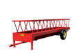 Angled view of a silage feeder trailer
